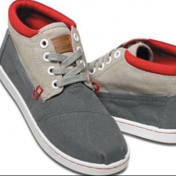 c46ab107869 Tom s Youth Grey Color Block Botas Size 3.5 NIB